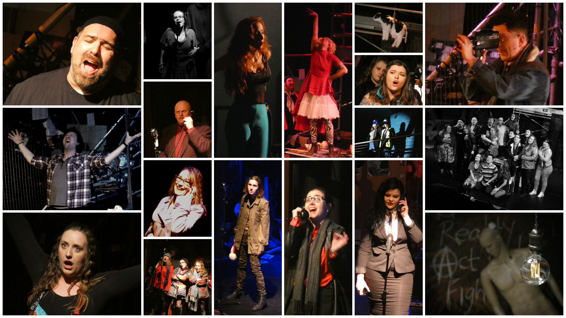 Rent at the Arc Theatre - montage by Gail Foster